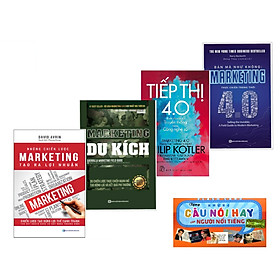 Combo 4 Cuốn Marketing Du Kích + Marketing 4.0 + Tiếp thị 4.0 - Dịch Chuyển Từ Truyền Thống Sang Công Nghệ Số +Những chiến lược marketing tạo ra lợi nhuận (Tặng Kèm Những Câu Danh Ngôn của Người Nổi Tiếng)