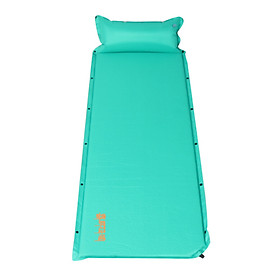 Himalayan tent mat outdoor thick waterproof mat automatic inflatable cushion single sleeping cushion air bed rainbow 2 upgrade version green HA9604