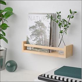 Kệ  gắn tường gỗ thông đa năng Giá treo tường để sách, gia vị, trang trí kích thước 60x12x10 cm