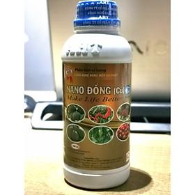 Nano Đồng AHT 500ml - Phân bón vi lượng dạng nước, phòng ngừa và diệt nấm bệnh, vi khuẩn trên cây trồng hiệu quả. Không để dư lượng thuốc
