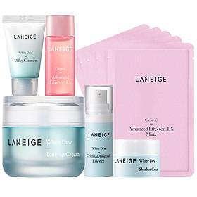 Bộ Kem dưỡng nâng tông da trắng hồng tự nhiên Laneige White Dew Tone Up Cream 50ml + tặng Bộ dưỡng trắng làm sáng da White Dew Trial Kit-0