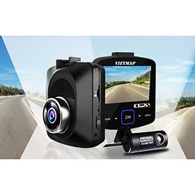 Camera Hành Trình Ô tô VietMap C62S độ phân giải Ultra HD 4K - Ghi Hình Trước Sau Tích Hợp Cảnh Báo Giao Thông Bằng Giọng Nói + Wifi + Thẻ Nhớ 16GB - Hàng Chính Hãng Công ty
