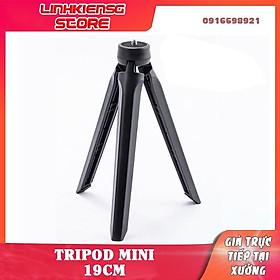 Tripod giá đỡ Gopro đèn livestream 19CM máy ảnh gậy tự sướng ren kim loại cao cấp