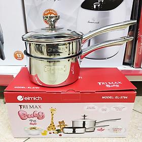 Bộ nồi quánh và chảo chống dính đáy liền Elmich Trimax Baby EL-3794 đường kính 14cm - Hàng chính hãng