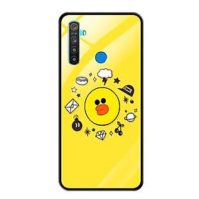 Ốp Lưng Kính Cường Lực cho Điện thoại Realme 5 - 0674 Duck - Hàng Chính Hãng