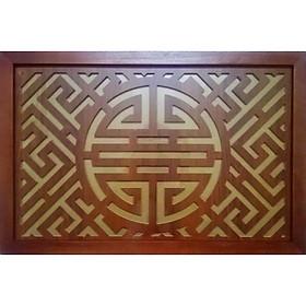 Tấm chống ám khói khung gỗ sồi chữ Phúc Thọ  (sản phẩm có nhiều kích thước) - BH79