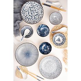 Combo 2 Hộp Quà Tặng Tân Gia - bộ 6 chén (bát) cơm, 2 đĩa, 6 đôi đũa, 4 thìa (muỗng) phong cách Nhật Bản sang trọng hoa văn sắc xưa giả cổ dùng làm quà tặng, quà biếu, hoặc dùng sử dụng tại nhà, tiếp khách