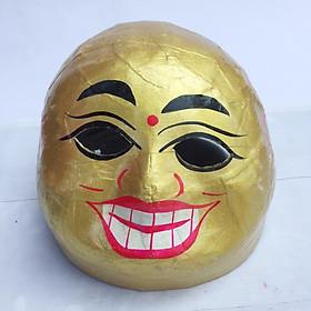 Mặt nạ ông địa trung thu truyền thống - màu vàng
