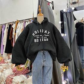 Áo khoác nỉ hoodie in chữ Holiday siêu đẹp