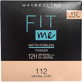 Phấn Nền Kiềm Dầu Chống Nắng 12H SPF 28 PA+++ Mịn Lì Lâu Trôi Fit Me Maybelline New York Compact Powder 6g-2