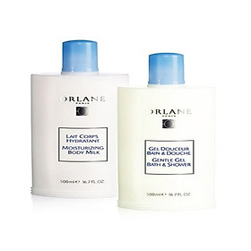 Bộ đôi sản phẩm dưỡng ẩm làm ẩm da toàn thân và  Sữa tắm  tôn vinh mùi hương cá thể Orlane 500ml
