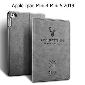 Bao Da Cover Dành Cho Apple Ipad Mini 4 Mini 5 2019 Vân Da Tuần Lộc