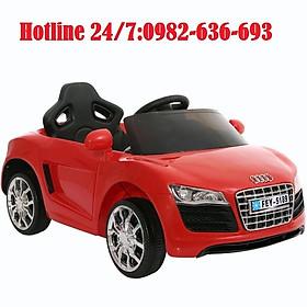 Ô tô xe điện đồ chơi cho bé AUDI FEY5189 tự lái và điều khiển 6V4,5AH (Đỏ-Trắng-Hồng)