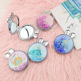 Gương mini kim tuyến tai thỏ cực xinh giá rẻ
