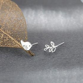 Bông hoa tai nữ bạc s925 cao cấp HEBT024 BH trọn đời