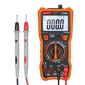 NJTY Digital Multimeter 6000 Counts Multi-functional Non Contact Multi Meter Voltmeter Ammeter Ohmmeter Measuring AC/DC