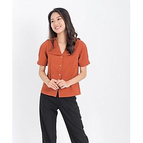 Áo kiểu thời trang Eden dáng suông, tay ngắn, cổ v. Chất liệu mềm mại, thoáng mát. Freesize - ASM087