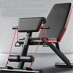 Ghế tập thể dục đa năng - Hỗ trợ tập các bài tập tạ, cơ bụng, cơ tay gấp gọn - Chất liệu khung thép và đệm xốp bọc da PU