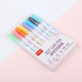 8pcs/set 12pcs/set Colorful Painting Hook Line Pen Set Metal Color Marker Color Pen