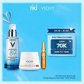Bộ serum khoáng phục hồi chuyên sâu và làm sáng da Vichy Mineral 89