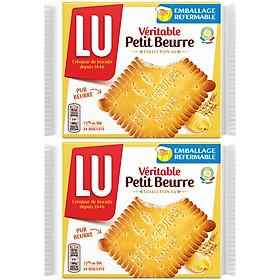 Combo 2 Bánh Quy Bơ Kinh Đô LU Veritable Petit Beurre Thanh (200g / Hộp)