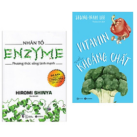 Combo Chăm Sóc Sức Khỏe: Nhân Tố Enzyme - Phương Thức Sống Lành Mạnh + Vitamin Và Khoáng Chất (Bộ 2 cuốn Sách Y Học/ Tặng kèm Bookmark Happy Life)
