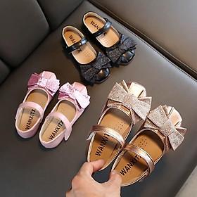 giày búp bê bé gái nơ kim tuyến