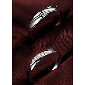 Nhẫn đôi bạc ND0092