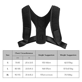 Posture Corrector with Shoulder Pads Men Women Adjustable Back Trainer Shoulder Straps Back Brace Support-1