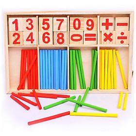 Bộ que tính học toán bằng gỗ(48 que)