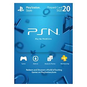Hình đại diện sản phẩm Thẻ PlayStation PSN 20 SGD Hệ Singapore - Hàng Chính Hãng