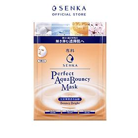 Mặt nạ dưỡng da đàn hồi và sáng mịn Senka Aqua B Bright Mask 25ml