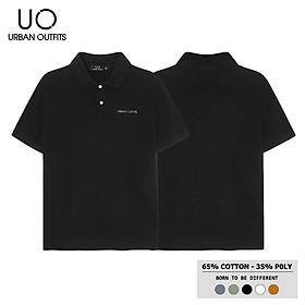 Áo Thun Cổ Bẻ Nam Nữ URBAN OUTFITS In Chữ Nổi PLR02 Tay Ngắn Dáng Unisex Cặp Đôi Hàn Quốc Outfit Thun Cotton 4 Chiều