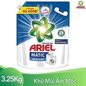 Nước Giặt Ariel Khử Mùi Ẩm Mốc Túi 3.25kg