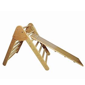 Cầu trượt  gỗ cho bé