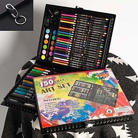Bộ hộp bút chì màu 150 chi tiết trẻ em TẶNG MÓC ĐEO CHÌA KHÓA