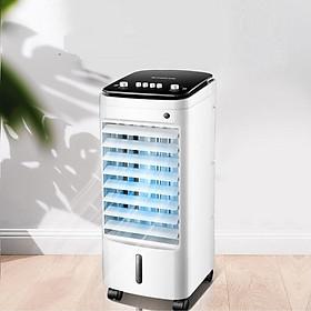 Quạt điều hòa phun lạnh hơi nước - quạt điều hòa hơi nước - quạt không cánh tinh thể băng phun hơi lạnh - quạt thiết kế mới 2 bể nước có hộp tinh thể băng làm lạnh