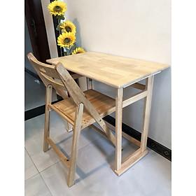 Bộ bàn ghế học và làm việc gỗ tự nhiên xếp gấp gọn VIMOS 88