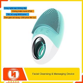 Máy rửa mặt mini massage tích hợp sóng âm HT SYS - JOYJULY - Facial Cleansing & Massaging Device