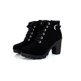 Giày boot nhung phong cách B001
