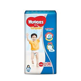 Tã quần HUGGIES DRY PANTS BIG JUMBO M54-L48-XL42-XXL38 [Tặng Gel rửa tay]