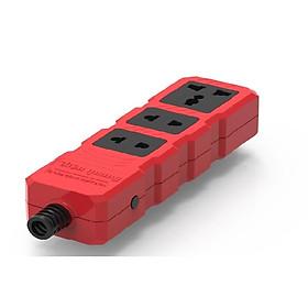 Ổ Cắm Công Suất Lớn Điện Quang ĐQ ESKHP 3RB (3 Lỗ, Màu Đỏ Đen, Không Dây)