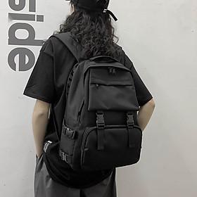 Balo trơn Unisex Nam nữ đi học laptop chống nước balo cặp sách đi học học sinh sinh viên ulzzang