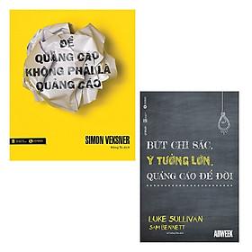 Bộ 2 cuốn sách nên đọc về nghệ thuật quảng cáo: Để Quảng Cáo Không Phải Là Quảng Cáo - Bút Chì Sắc Ý Tưởng Lớn Quảng Cáo Để Đời