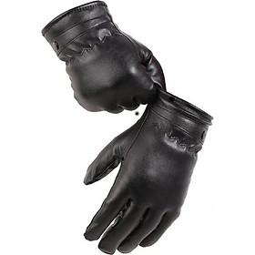 Găng tay da lót lông chống mưa