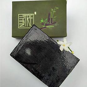 Xà bông Sinh Dược Than tre, xà bông cục handmade 100gr, mẫu bao bì vẽ mộc, hương ba tươi mát, làm sạch tẩy da chết, massage hiệu quả
