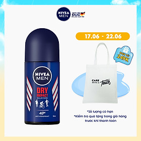 Lăn Ngăn Mùi NIVEA MEN Dry Impact Khô Thoáng (50ml) - 81610