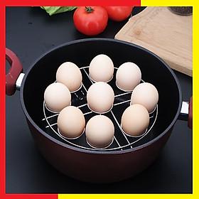 Giá Inox hấp trứng, hấp thức ăn đa năng loại 9 ô làm bằng inox 304 Cao Cấp không gỉ chắc chắn,Chịu lực tốt với lượng thức ăn lớn,Kích thước 18,5 x 40 x 40 cm (Tặng kèm 1 khuôn rán trứng) - Giá Inox Hấp thực phẩm Nướng trứng
