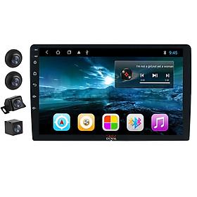 Bộ kết hợp màn hình DVD Android và Camera hành trình 360 độ cao cấp 2 trong 1 dùng cho xe ô tô, xe hơi