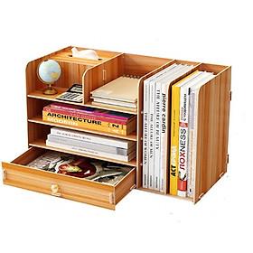 Kệ hồ sơ mini và tài liệu để bàn văn phòng chất liệu gỗ MDF lắp ghép sang trọng tiện lợi nhiều màu sắc bắt mắt thiết kế thông minh, gọn gàng